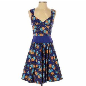 Plenty by Tracey Reese blue floral dress size 0